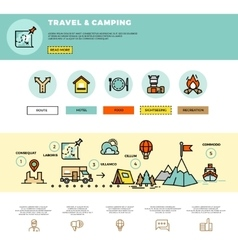 Camping traveling tourism infographic vector image vector image