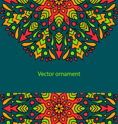 card with colored circular ornament vector image vector image