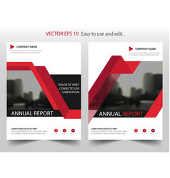 red triangle annual report leaflet brochure flyer vector image