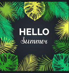 vintage hello summer exotic vector image