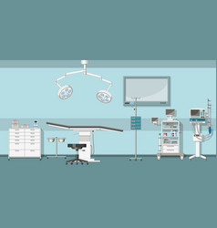 a operating room vector image vector image