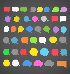 abstract color speech clouds silhouettes vector image