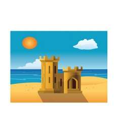 sandcastle vector image vector image