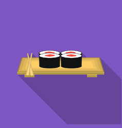 sushi icon in flat style isolated on white vector image vector image