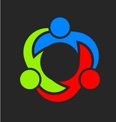 Three Team Union Logo vector image