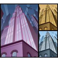Cityscape Vertical 2 vector image