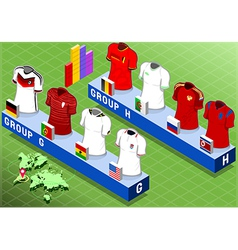 Isometric Nations Groups for Soccer World Cup vector image vector image