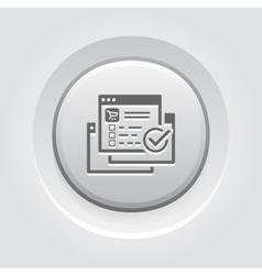 Order Processing Icon Grey Button Design vector image vector image