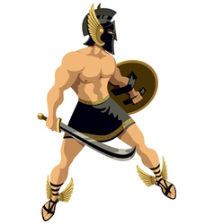 Perseus on White vector image vector image