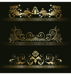 set from retro frames vector image vector image