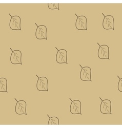 Tree leaf brown seamless pattern vector image