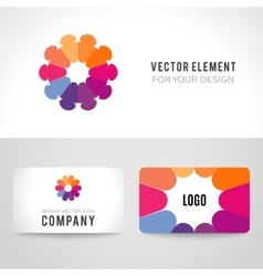 Abstract bright colorful communication logotype vector image vector image