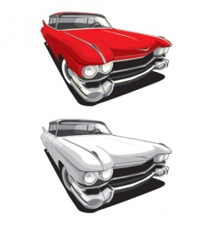 American retro car vector image
