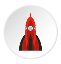 Ballistic rocket icon flat style vector