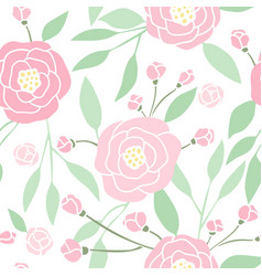 Beautiful hand drawn peony background vector