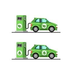 Biofuel petrol station Green energy vector image