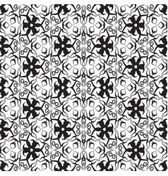 Black and white vintage seamless pattern vector