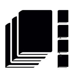 black book icons pictograms vector image