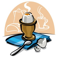 boiled egg vector image vector image