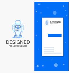 Business logo for autonomous machine robot vector
