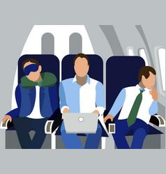 Cabin passengers flight in minimalist vector