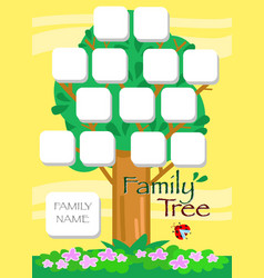 Cartoon family tree vector