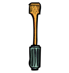 cartoon image of screwdriver vector image