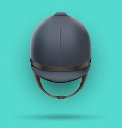 classic jockey helmet vector image