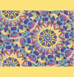 colorful geometric patterns vector image