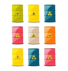 Containers with explosive and reactive substances vector image