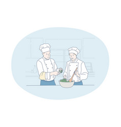 Cooking professional chef restaurant concept vector