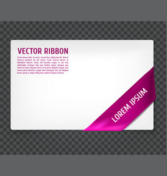 Corner ribbon vector
