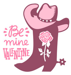 cowboy valentine day country farm with cowboy vector image