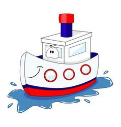 cute cartoon ship isolated on vector image