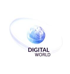 Digital earth concept symbol vector