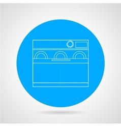 Dishwasher machine flat line icon vector