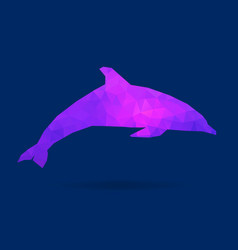 dolphin polygon silhouette vector image
