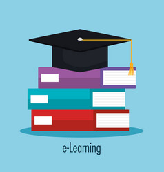 electronic learning with ebooks vector image