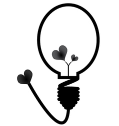Energy saving bulb Concept of love vector image