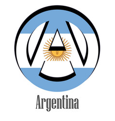 flag of argentina of the world in the form of a vector image