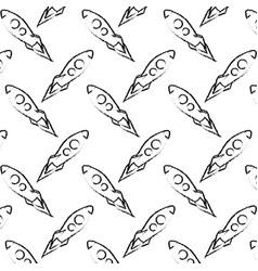 flying rocket launching creativity pattern desgin vector image