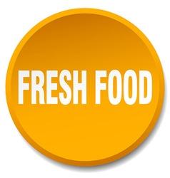 fresh food orange round flat isolated push button vector image