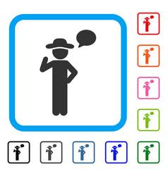 gentleman speech framed icon vector image