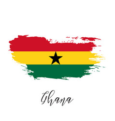 ghana watercolor national country flag icon vector image