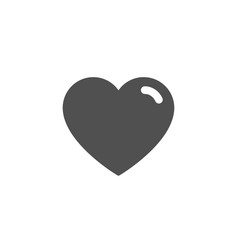 heart simple icon love sign vector image