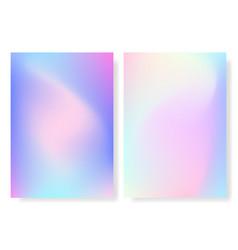 hologram foil cover holographic set gradient vector image