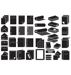 icons paper and folders vector image