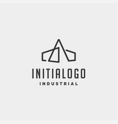 Initial letter a real estate logo design vector