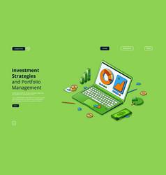 investment strategies portfolio management landing vector image