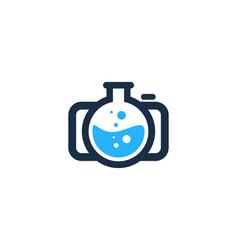 Lab camera logo icon design vector